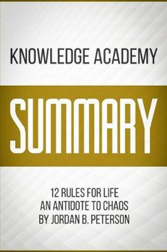 Boek cover Summary of 12 Rules For Life van Knowledge Academy (Paperback)