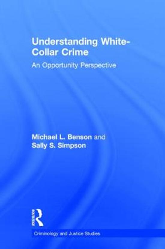 understanding white collar crime Understanding white collar crime, fourth edition (9781522105121) authors: j kelly strader carolina academic press.