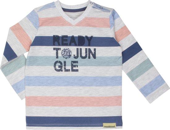 Moodstreet Jongens T-shirt - Multi Stripe - Maat 80