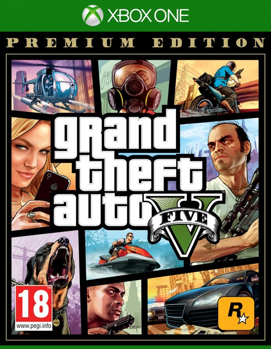 Cover van de game Grand Theft Auto 5 (GTA V) - Premium Edition Xbox One