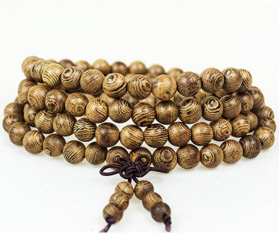 Buddha Armband - Sandelhout - Natural - 6mm - 58 cm