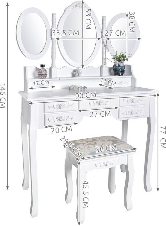 Toilettafel Met Spiegel.Top Honderd Klassieke Make Up Cosmetica Visagie Tafel Meisjes