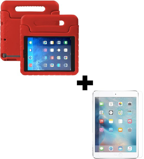 BTH iPad Mini 2 Kinderhoes Kidscase Hoesje Met Screenprotector - Rood