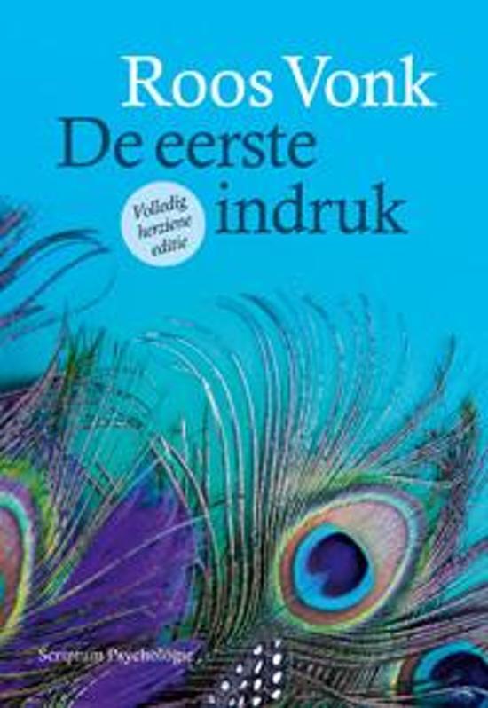 Boek cover De eerste indruk van Roos Vonk (Paperback)