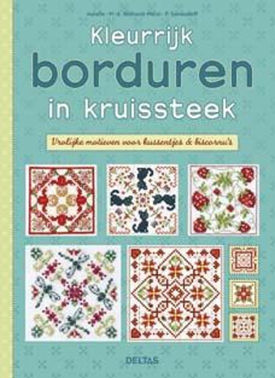 Bolcom Kleurrijk Borduren In Kruissteek Aurelle 9789044739404