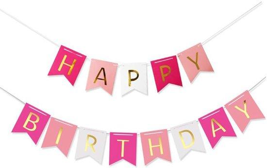 Bol Com Happy Birthday Slinger Verjaardag Roze Mix Ranido