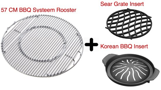 Rooster Weber Bbq.Bol Com 3 In 1 Aanbieding Set Barbecue Systeem Rooster