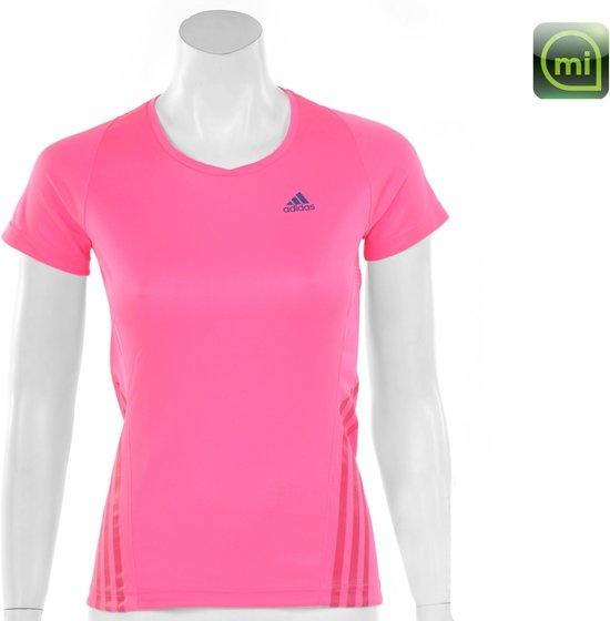 11db67f8164 adidas Snit Short Sleeve Tee Women's - Sportshirt - Dames - Maat 44 - Fluor  Roze