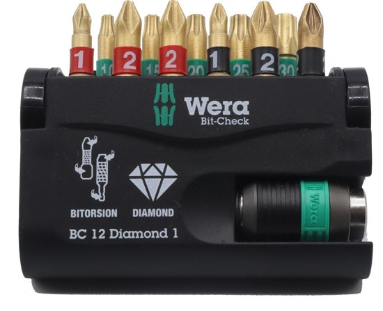 Wera Bit-check Diamond - Bitset - 12-delig