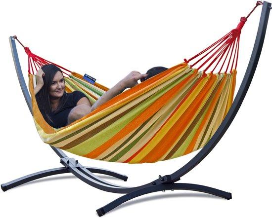 Potenza Grande- Tweepersoons Hangmatset / 2-persoons Hangmat met standaard