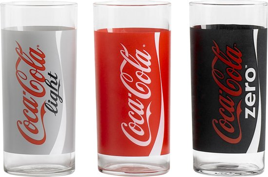 Luminarc Coca Cola glazenset - Cola-Light-Zero Valentinaa