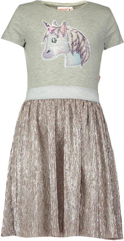 313767ffd6840f Coolcat Jurk A-lijn jurk Nemoplisse - Licht Grijs Melange - 134 140