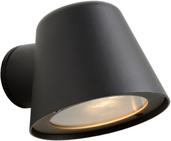 Lucide DINGO-LED - Wandlamp Buiten - LED Dimb. - GU10 - 1x5W 3000K - IP44 - Antraciet
