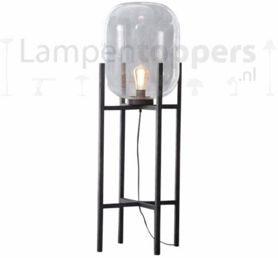 Geliefde bol.com   LT-Luce Vloerlamp Oud Zilver Glazen Bol @EX33