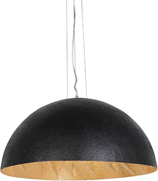 Top bol.com | QAZQA Magna 70 - Grote hanglamp - 3 Lichts - Ø70 cm - zwart WW01