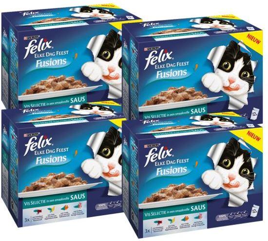 d3322aafbdb bol.com   FELIX Elke Dag Feest Fusions - Vis - Kattenvoer - 4 x (12 ...