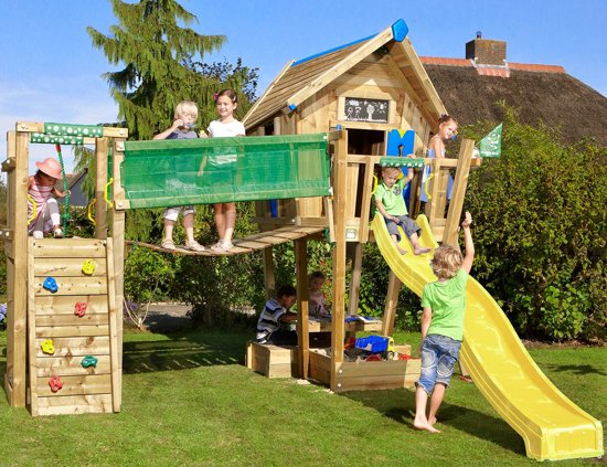 Super bol.com | Jungle Gym - Crazy Playhouse Bridge - Houten Speelhuis #GC83