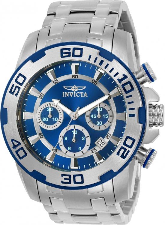 INVICTA Pro Diver 22319 - Horloge - Heren - Zilver - Quartz - Ø 50 mm