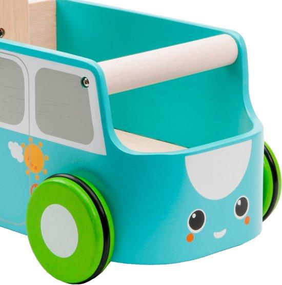Plan Toys - Loopwagen Blauw