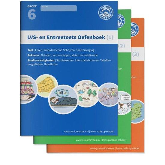 LVS en entreetoets oefenboeken compleet Delen 1 2 en 3 Gemengde opgaven Groep 6 opgaven voor rekenen taal en studievaardigheden