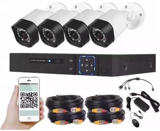 CCTV 1080P 2MP Sony Camerasysteem 4 Bedrade camera's buiten + DVR Beveiligingscamera  systeem set + 500GB Harde schijf