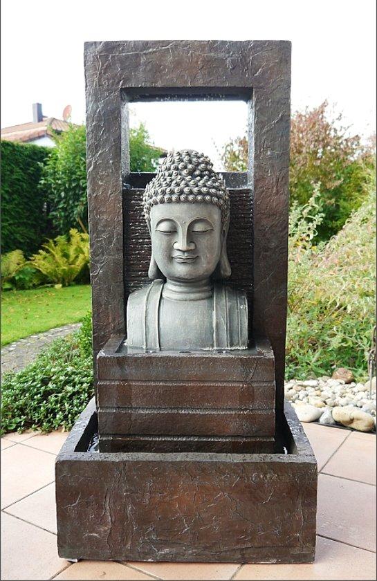 Giant boeddha buddha fontein 109cm for Waterpartij maken