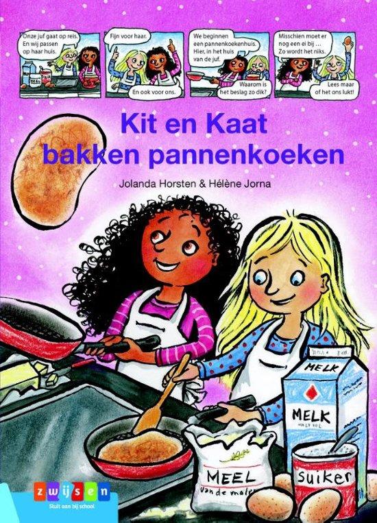 Leesserie Estafette - Kit & Kaat bakken pannenkoeken