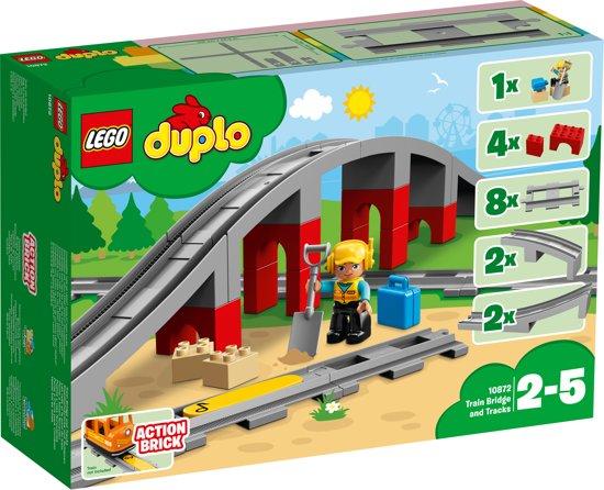 Afbeelding van LEGO DUPLO Treinbrug en -rails - 10872 speelgoed