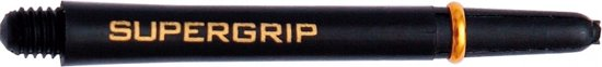 Harrows darts Supergrip nylon shaft zwart goud short 3 stuks