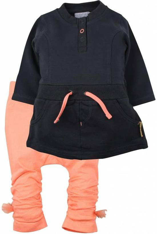 693d1fa3e93364 bol.com   80 - Dirkje 2-delig setje Neon Peach Happy Girls maat 80