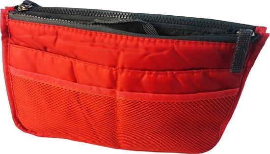 BAG-in-BAG handige organizer voor uw tas, rood