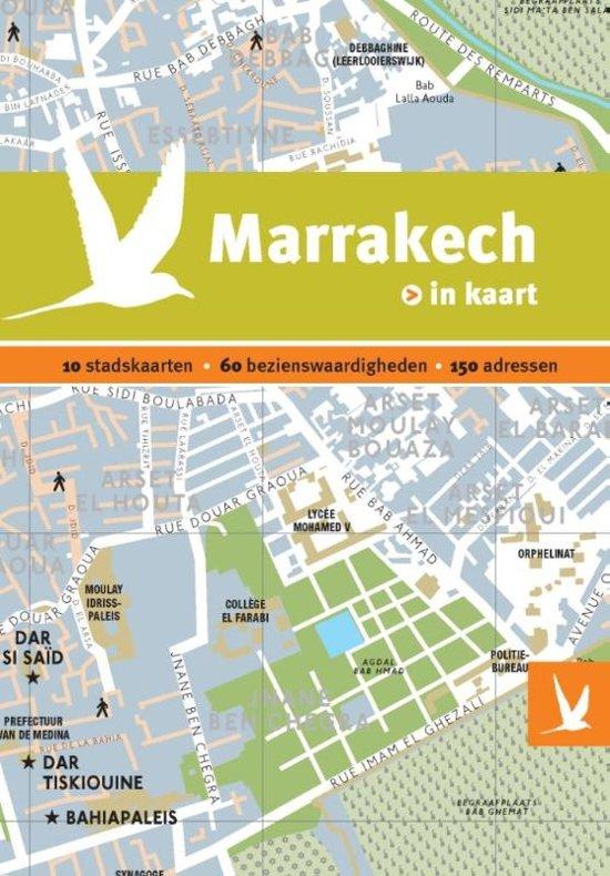 Dominicus stad-in-kaart - Marrakech in kaart