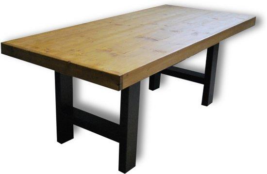 Bol.com tafel ann 4 6 persoons eettafel bruin zwart