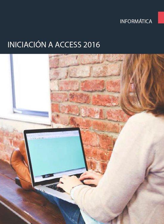 Iniciacion a Access 2016