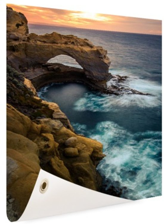 Great Ocean Road Australie Tuinposter 100x200 cm - Tuindoek / Buitencanvas / Schilderijen voor buiten (tuin decoratie) XXL / Groot formaat!