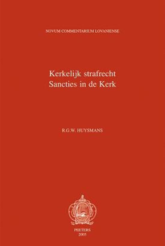 Liber vi. kerkelijk strafrecht. sancties in de kerk. de sanctionibus in ecclesia