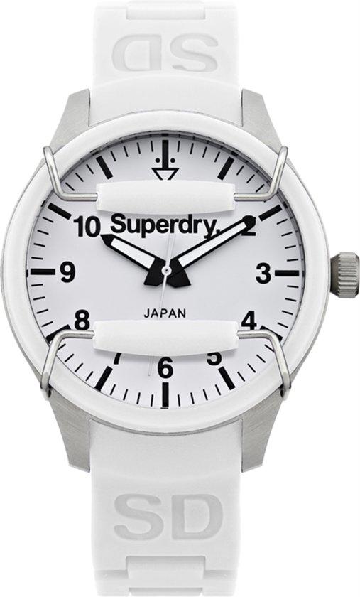 Superdry Scuba Ladies Midi  SYL120W - Horloge -Wit- 36 mm