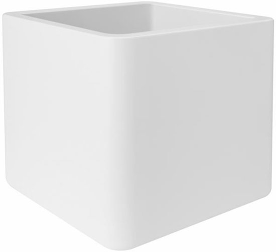 elho pure soft brick met wielen bloempot 40 cm - wit