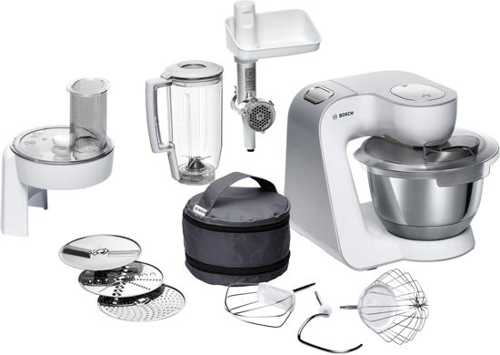 Bosch MUM58231 Keukenmachine - MUM5 Creationline - Wit Zilver