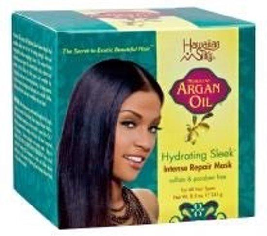 Hawaiian Silky Argan Oil Hydrating Sleek Intense Repair Mask 241 gr