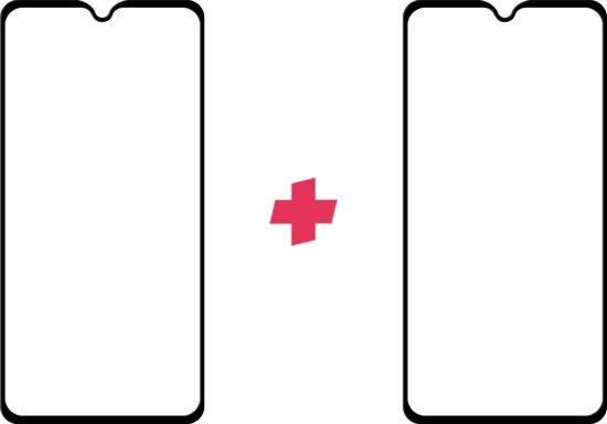 DuoPack: Huawei Mate 20 screenprotector gehard glas Edge to Edge