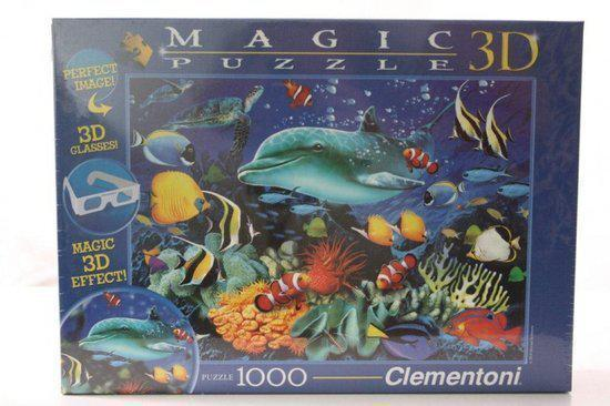Clementoni Magic puzzel 3d dolfijn 1000st