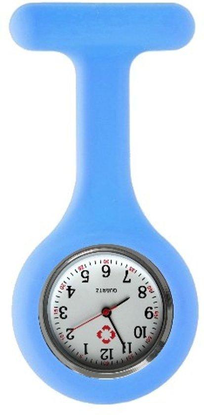 Fako® - Verpleegstershorloge - Zusterhorloge - Siliconen Uni - Lichtblauw