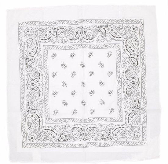 Boeren bandana zakdoek  Wit