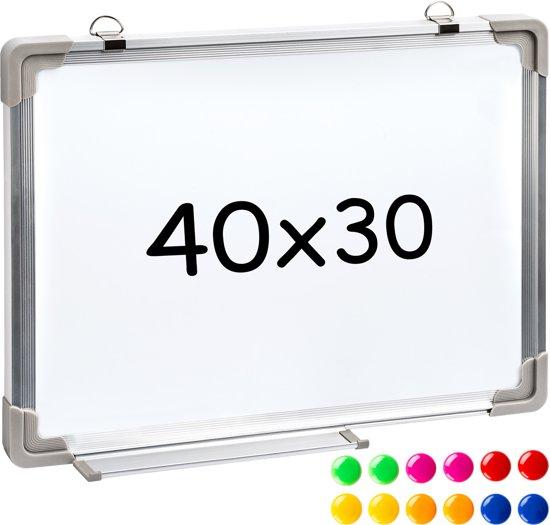 bol.com : TecTake - Magnetisch bord Whiteboard 40 x 30 cm - 400813