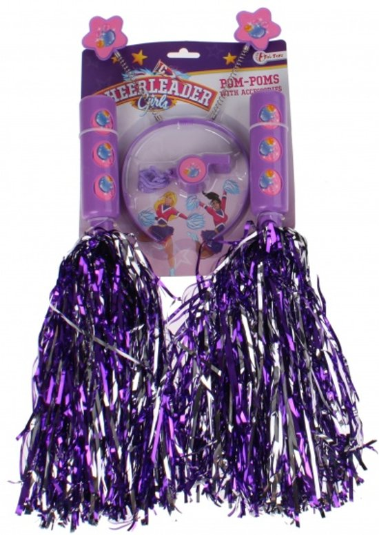 Toi-toys Pompons Cheerleaderset Meisjes Paars 4-delig