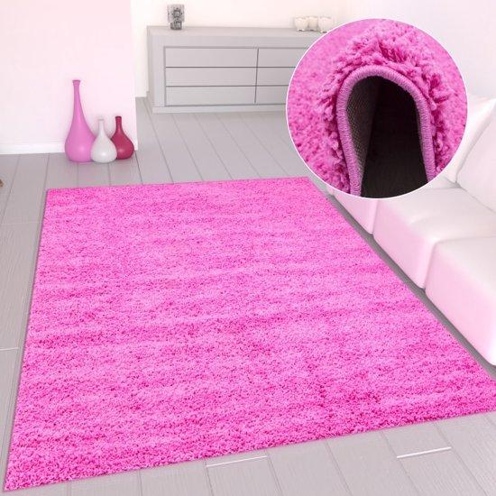 Vloerkleed Prime Shaggy - Roze - 40x60 cm - 1800 gr/m²