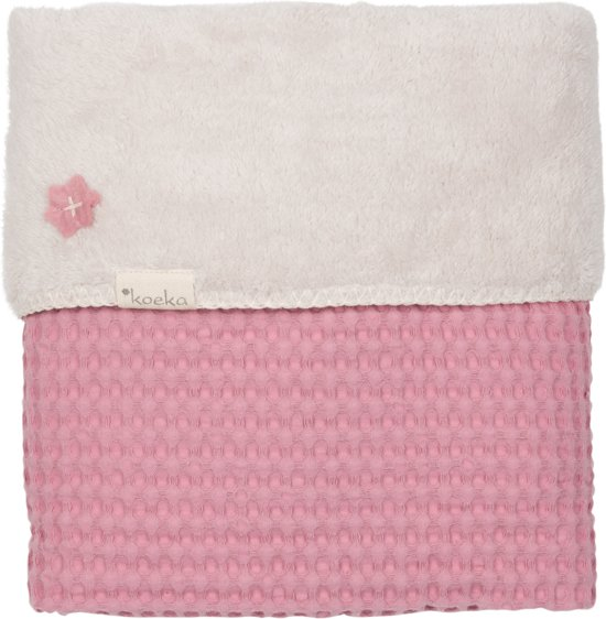 Koeka Ledikantdeken Wafel/Teddy Oslo - Blush Pink - 100*150 CM
