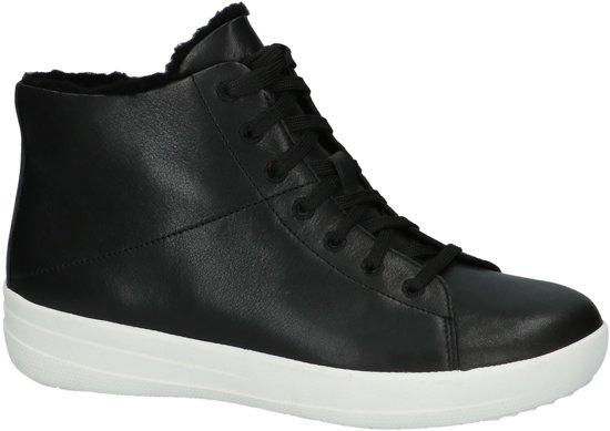 Fitflop Sneaker F-sporty? Chaussure Fitflop F Sportive? Sneakerboot Leather Black Zwart Chaussure Sneaker En Cuir Noir Noir fOZNT