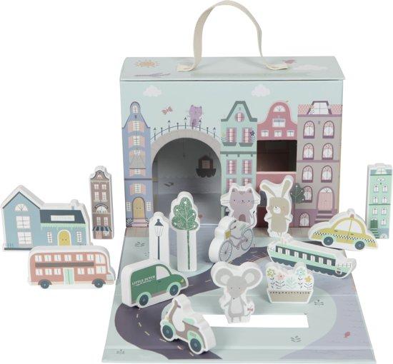Afbeelding van Little Dutch Speelkoffer Stad speelgoed